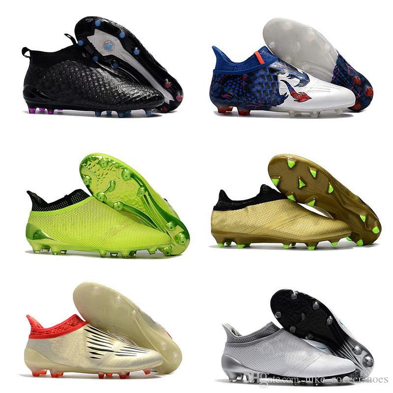 f6db01249e Compre 2018 Mens Ace 17 + Purecontrol Fg Botas De Futebol De Alta Tornozelo  Sapatos De Futebol Homens Chuteiras De Futebol Botas De Futebol De Alta ...