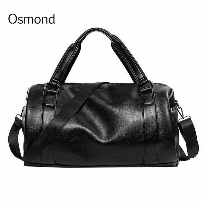 f30865e844ed Osmond Men s Travel Bags Black Bucket Handbags High Quality PU ...
