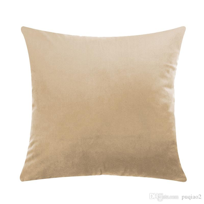 45cm*45cm Solid Color Velvet Fabric Back Cushion Include Cover And Polypropylene Cotton Core /bag Drop Shipping
