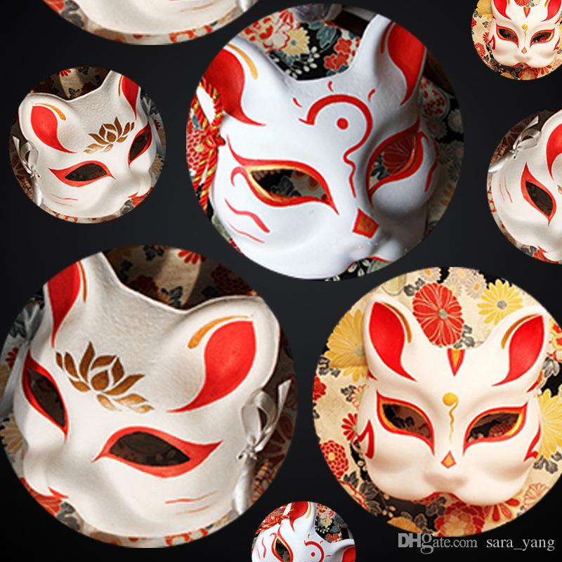 Hot sell 200pcs Unpainted Blank White Sexy Women Party Masks Masquerade  Mask Venetian Cat Animal hand Cosplay Costume DIY Mask High Quality
