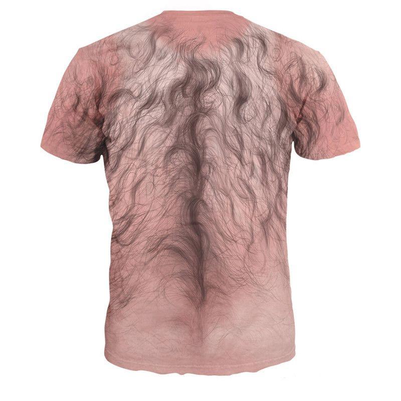 Sexy Men Hair 3D T shirt Casual Body Hair Print t shirt Mens Hip Hop Streetwear Fitness Harajuku T-Shirt Male Plus Size Tops