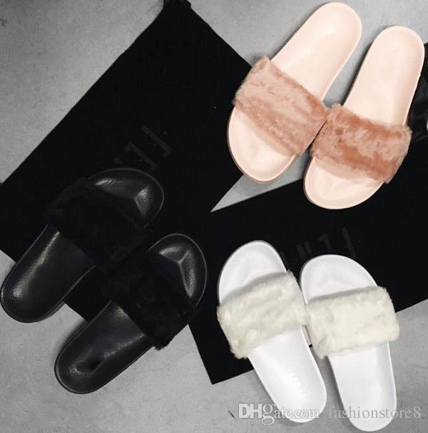 uk availability b9800 b5ddd fenty fuzzy slippers