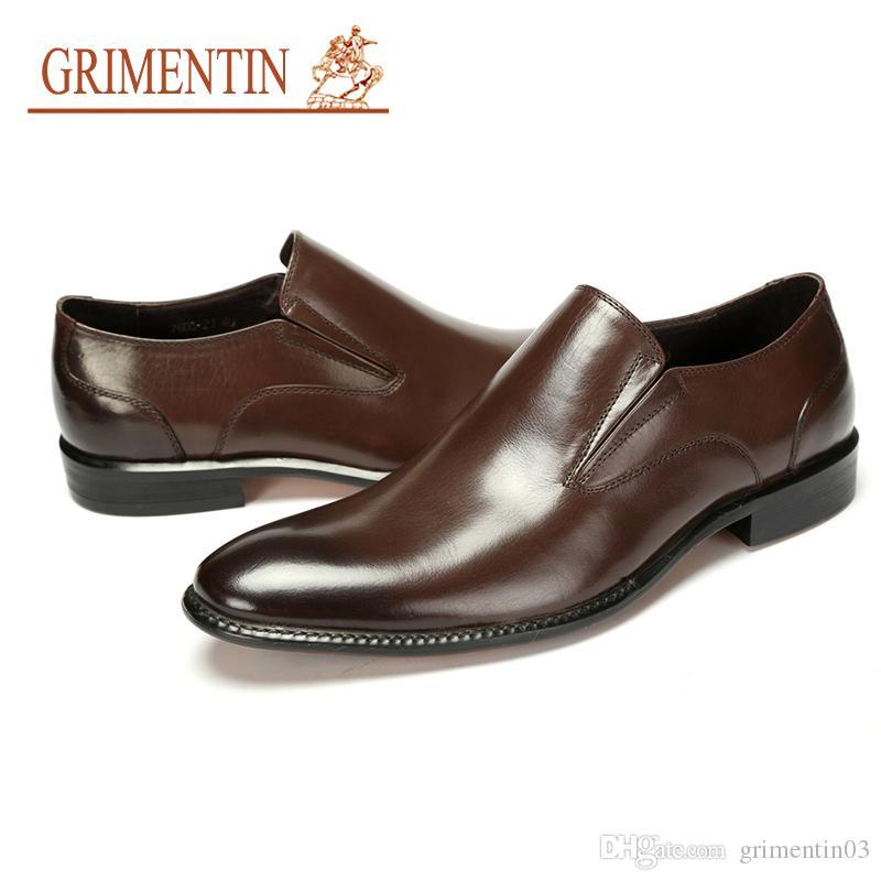 7d5da0a7e GRIMENTIN Hot Sale Italian Fashion Designer Mens Dress Shoes 100% Genuine  Leather Oxford Shoes For Brand Formal Business Wedding Male Shoes Designer  Shoes ...