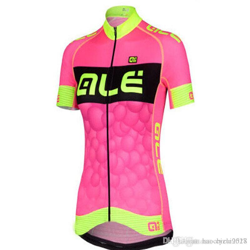 ffe53a338 Pro Team Cycling Short Sleeves Jersey 2018 ALE New Women Bicycle ...