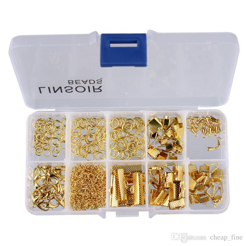 مربع الساخنة مجموعة الخرز كيت الانتقال خواتم / المشابك لصنع المجوهرات قلادة diy النتائج مجوهرات اكسسوارات مكونات