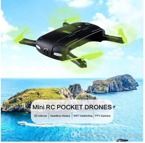 2018 Hot Sellin D5 Selfie FPV Drone con videocamera HD Pieghevole RC Pocket Drones Phone Control Helicopter Mini Dron JJRC H37 523 Quadcopter