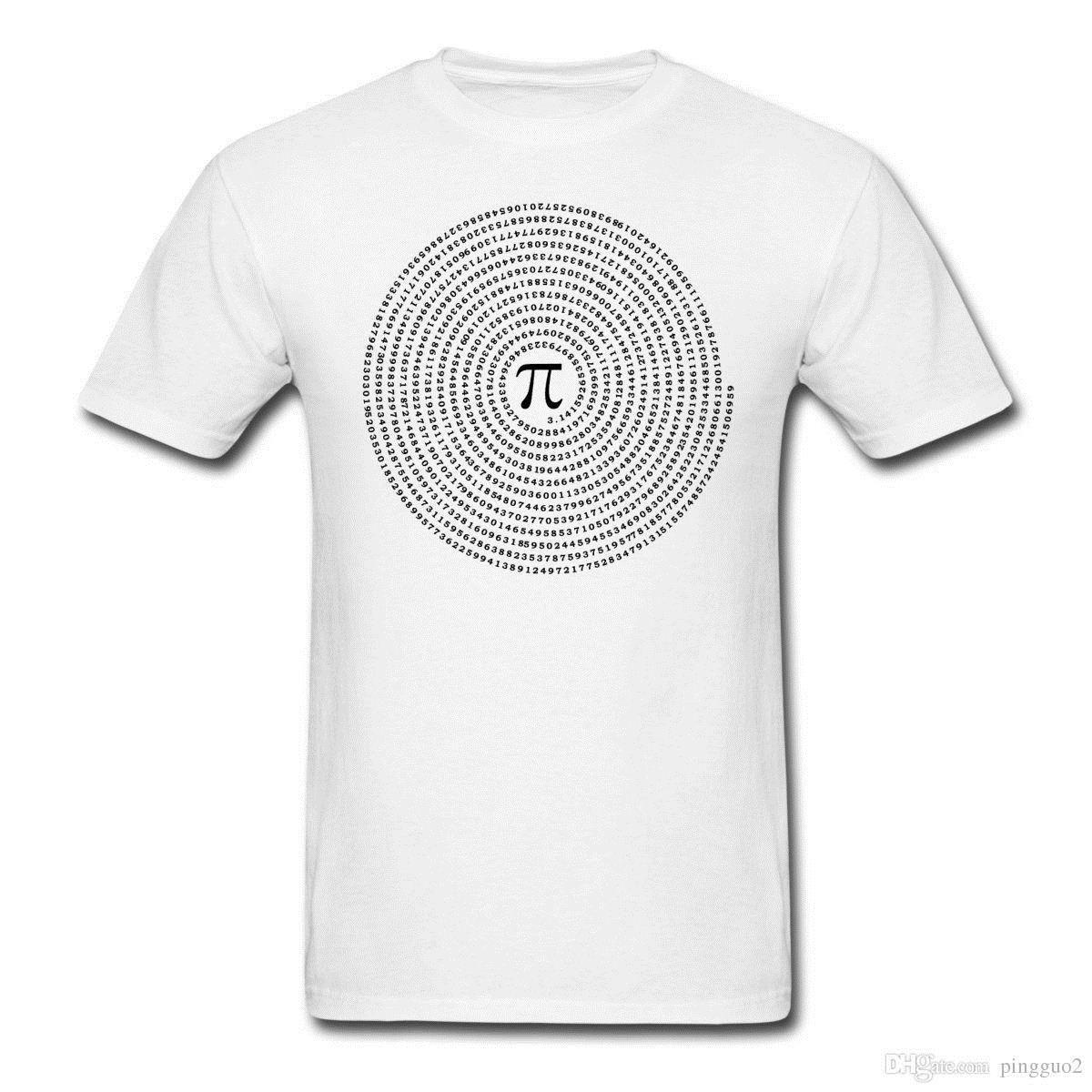 72edfef2f Pi Spiral Men's T-Shirt New Metal Short Sleeve Casual Shirt Great Discount  Cotton Men Tee Short Sleeve T Shirt Tops