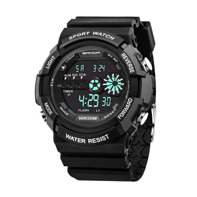 b595e542260b Compre Reloj Para Hombre De Acero Inoxidable LED Fecha Digital De Alarma De  Alta Calidad A Prueba De Agua Deportes Reloj De Cuarzo Del Ejército Reloj  Mujer ...