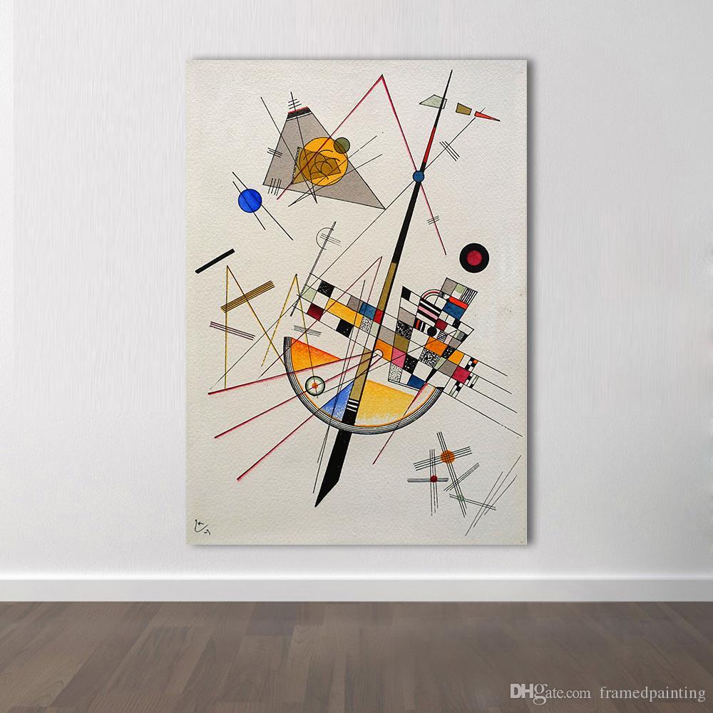 Pictures La Arte El Kandinsky Room For Living Pintura Hogar Decoración Marco Wassily Wall Abstracto Moderna Sin Título Para De Lona f7Y6gyb