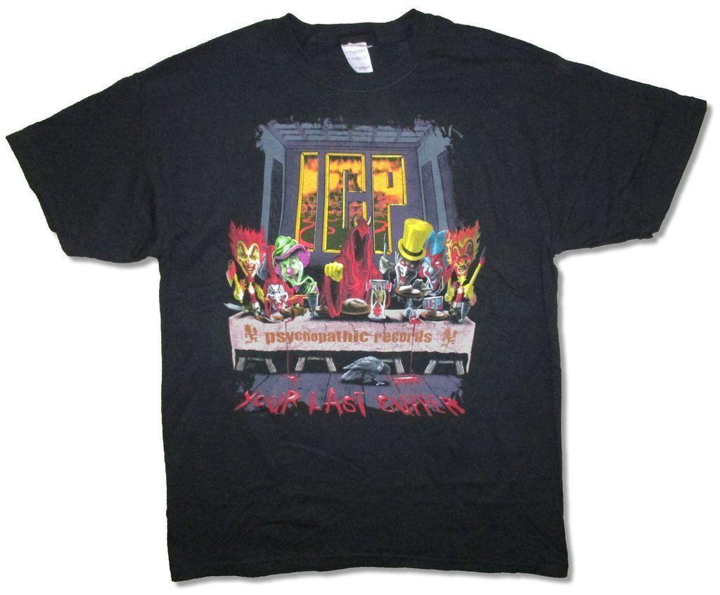 Insane Clown Posse Last Supper Black T Shirt New Official Icp Cool