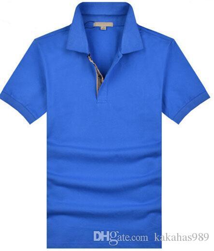 Acheter Meilleur Vente Hommes Casual Polo Shirt Hommes Coton À Manches  Courtes Brit Shirts Sport Polo Chandails London Camisa Polos Homme S 2xl  Blanc De ... 9f93325b7ecb