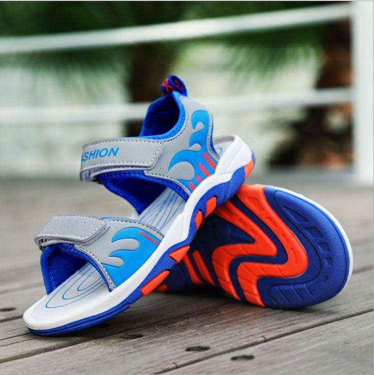 61b20893f0b4 Boys Sandals 2018 Summer New Wave Sports Shoes Children S Children S Sandals  Non Slip Beach Boys Cheap Boots Buy Online Kids Shoes From Wangaiyu199012
