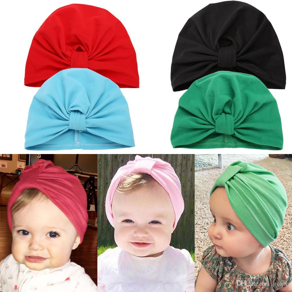 5a0488a0 2019 Baby Warm Hat Infant Newborn Autumn Winter Soft Knit Cotton Cap Bow  Beanie Fashion Boys Girls Hat Accessories From Gomo, $1.03 | DHgate.Com