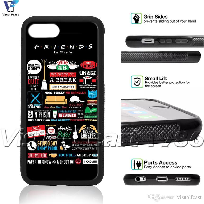 wholesale dealer d608e c10bd Friends Quotes Phone Case Funny TV Show For iPhone X 8/7/6/6s Plus 5s SE  Phone Cover Free GiftP