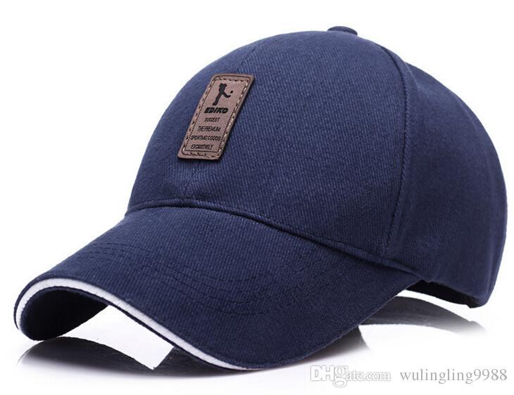 Pamuk Beyzbol Şapkası erkek Ayarlanabilir Kap Rahat eğlence şapkalar Katı Renk Moda Snapback Yaz Güz şapka Spor Kapaklar Güneş Şapka ...