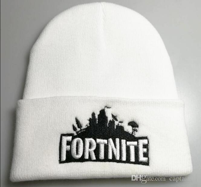 f4b2efd9a1c21d Fortnite Battle Knitted Hat Hip Hop Embroidery Knitted Costume Cap ...