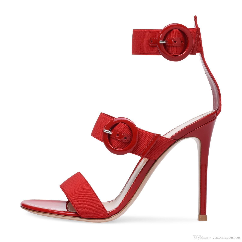 80d5bb331b83 Newest Sandalen Dames 2018 Gladiator Sandals Women Red Black Beige High Heels  Shoes Women Buckle Decor Summer Ankle Boots Women Wedge Sneakers Sandal  From ...