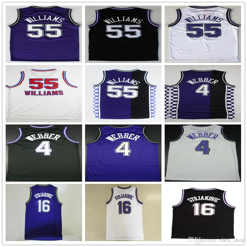 88909 36410  ireland 2018 wholesale 4 chris webber jersey 16 peja stojakovic  21 vlade divac 55 jason williams f7bdeb34b