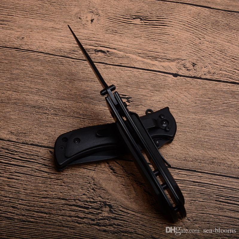 Top qualidade Browning Browning 339 Black Little Knife Pasta Lâmina 440 Lâmina punho de madeira Camping Caminhadas Caça KnIves D739Q