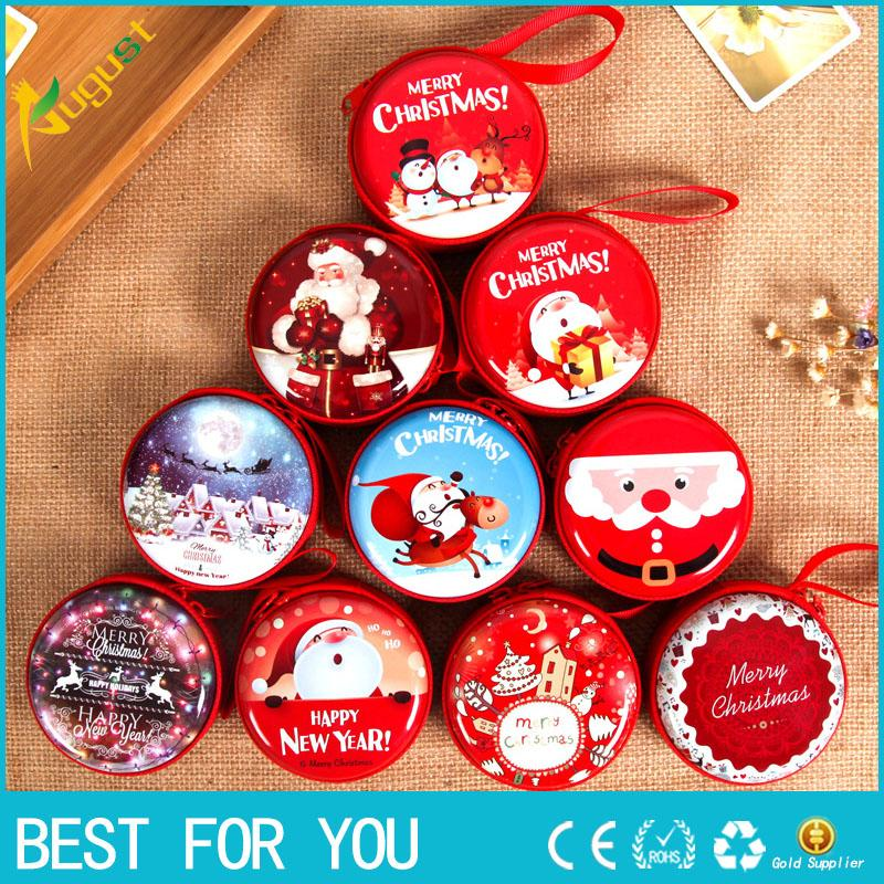 New hot Christmas Coin Purse Key Pouch Earphone Bags Pouch Zip Small Wallet Xmas New