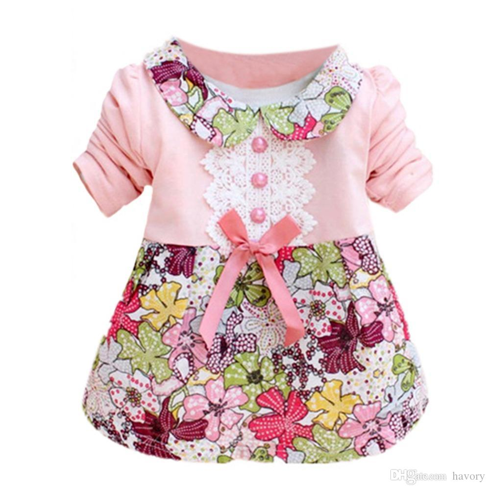 11783448f 2019 Toddler Baby Girls Floral Princess Dress Bow One Piece Kids Dress 0 2Y  L07 From Havory, $24.04 | DHgate.Com