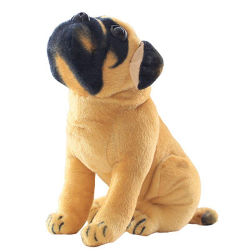 Dorimytrader Simulation Animal Pug Dog Plush Toy Soft Stuffed Cute