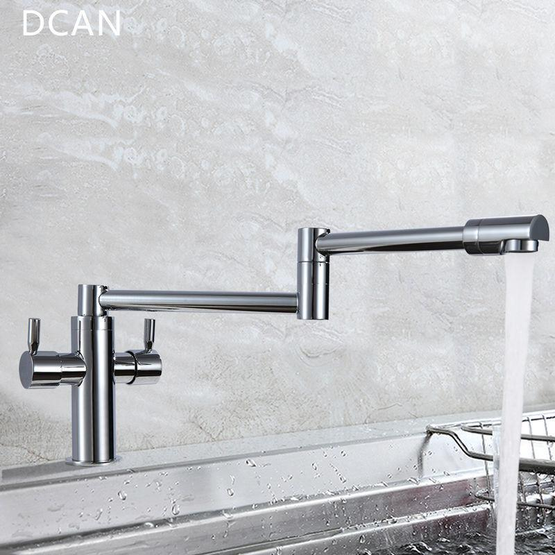 2018 Dcan Kitchen Faucets Kitchen Sink Faucets Dual Handle Mixer Tap ...