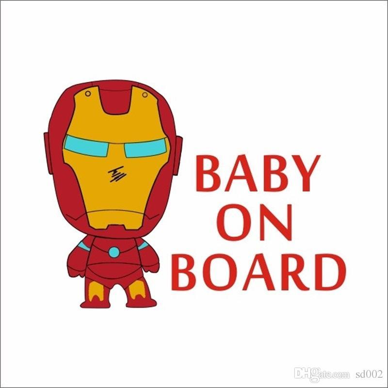 Satın Al Amercian Demir Adam Bebek Kurulu Araba Sticker Karikatür