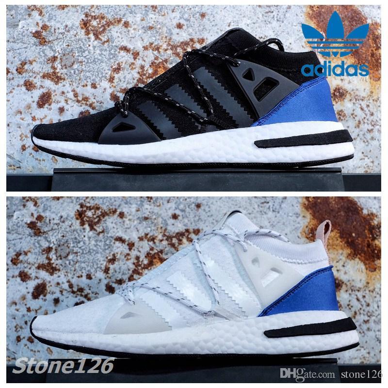 premium selection 05be9 0460a ... adidas originals arkyn ash pearl white black noble indigo grey women  men running shoes sport primeknit