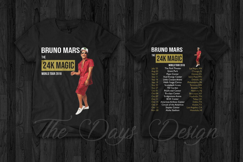 1f7e10696 Bruno Mars & Cardi B 24K Magic World Tour 2018 Merch Tshirt Rap Hip Hop  Custom Printed Tshirt Hip Hop Funny 100% Cotton Short Shirt T Shirt Tee  From ...