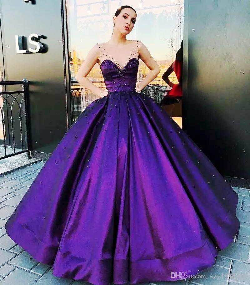 royal purple purple ball gowns