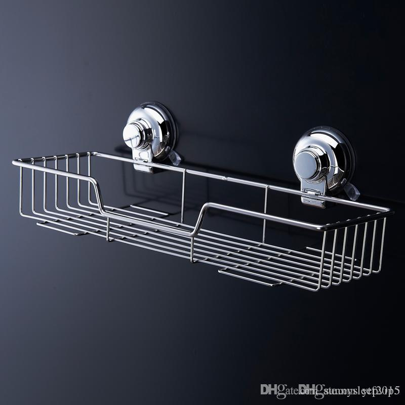 Top Grade Popular Space Stainless Steel Bathroom Shelf Bath Shampoo Rack  Towel Basket Wall Mounted Bathroom Wall Shelves Bathroom Shelves Online  With ...