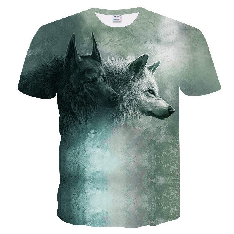Shirt Acquista Da Uomo T Estate Lupo Con Modello Stampa uZXOkPiT