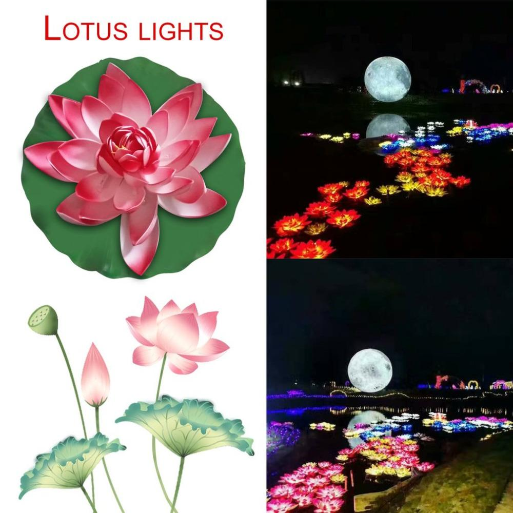 2018 lotus flower led lamp waterproof outdoor fountain floating pond 2018 lotus flower led lamp waterproof outdoor fountain floating pond night light for garden yard pool red pink blue from fried 2027 dhgate izmirmasajfo