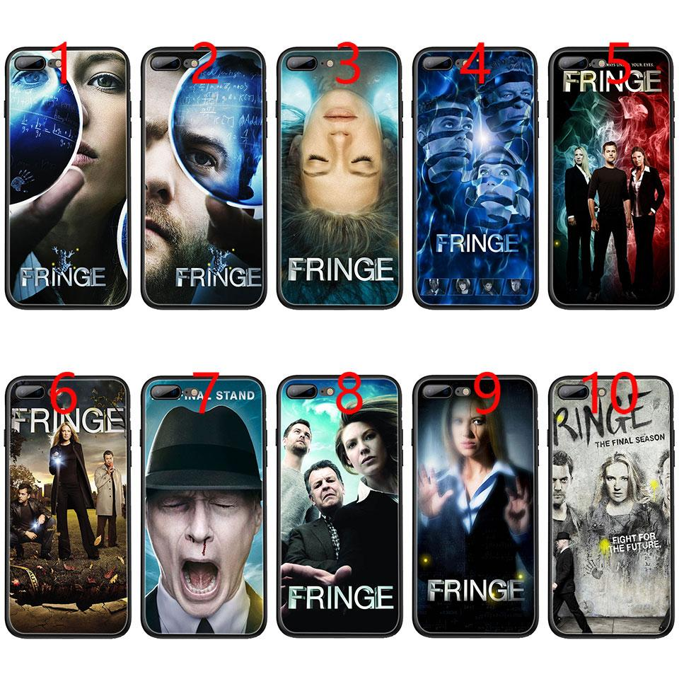 Fringe TV Show Soft Black TPU Phone Case for iPhone XS Max XR 6 6s 7 8 Plus  5 5s SE Cover