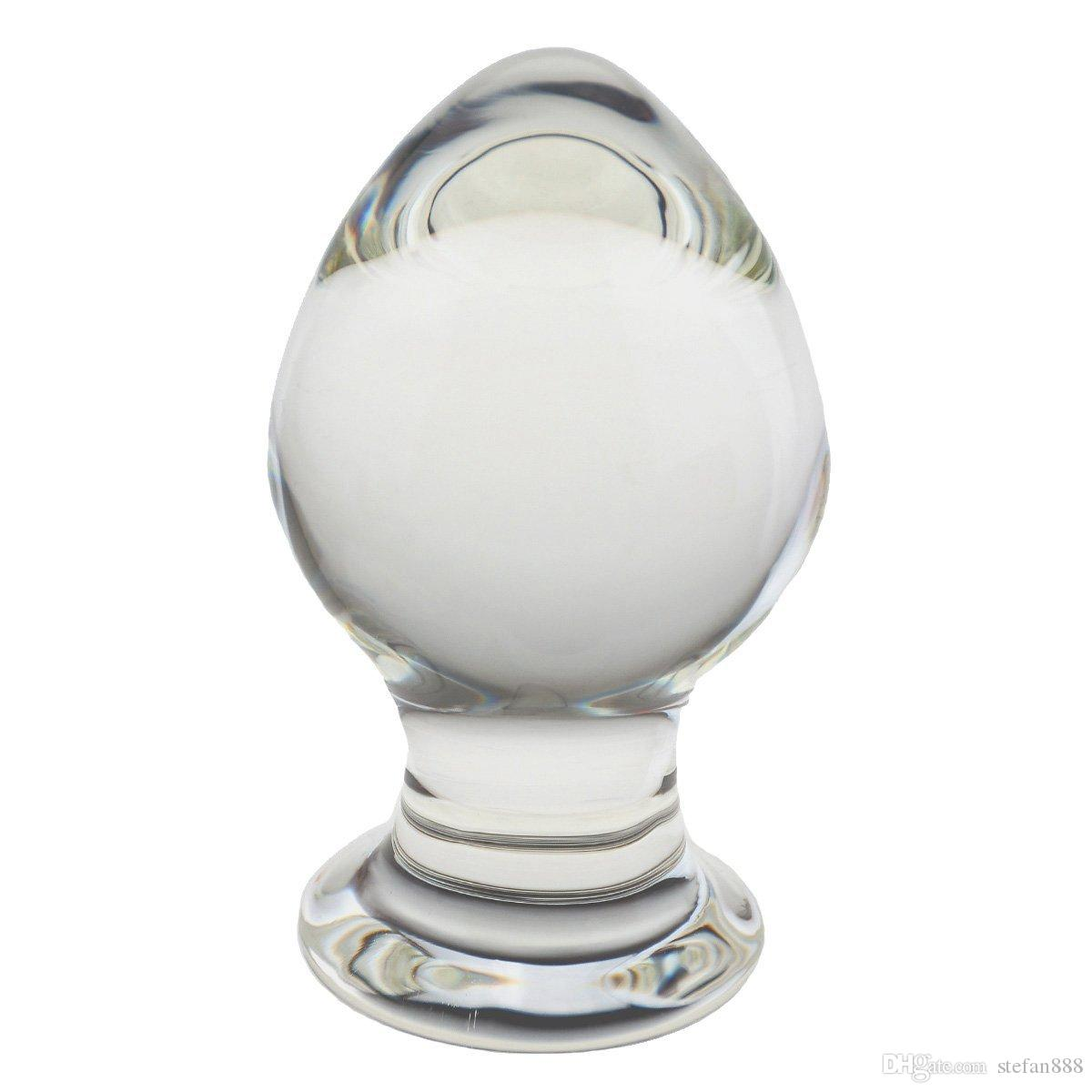 Sex Love Games Personal Massager for Women Men Couples Lover Glass Crystal Ball Adult Products Mushroom Shaped Anal Butt Plug Stimulate, 12.