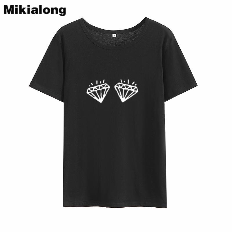 d1f262f1a6fb Women's Tee Mrs Win 2018 Tumblr Diamonds Graphic Tees Women Korean Style  Cotton Basic Tshirt Women Ulzzang Loose Streetwear Couple Clothes