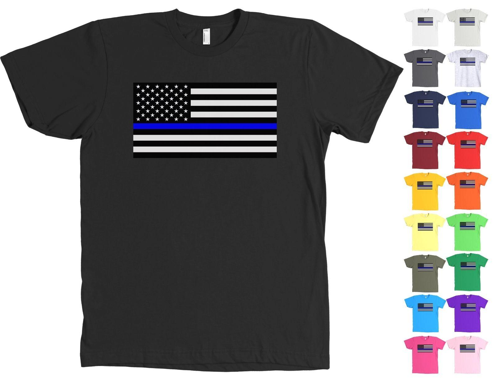 94caff6055ec80 Thin Blue Line Police Support American Flag Shirt Law Enforcement Online  Tee Shirts Shopping Funniest Tee Shirts From Sugarlisaxx, $11.01  DHgate.Com