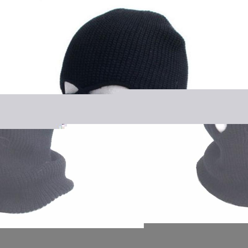 1c5bf6d3169 3 Hole Ski Cycling Mask Balaclava Black Knit Hat Face Shield Beanie Cap  Snow Winter Warm Black Ski Cycling Mask Canada 2019 From Teawugong