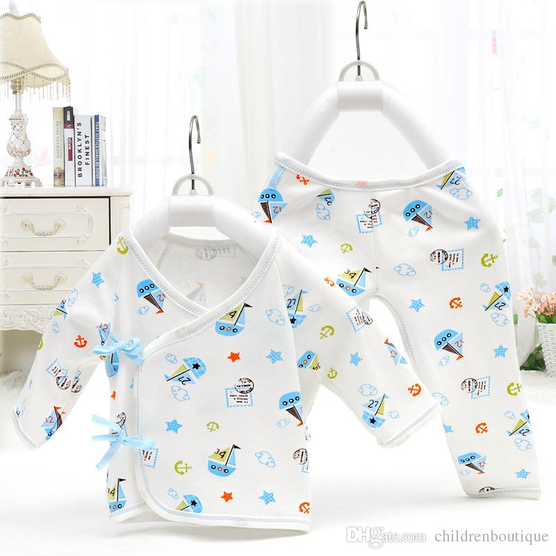 5ebb5f7c1 2019 2018 Newborn Baby Clothes Underwear Tops +Pants Boys Girls Warm ...