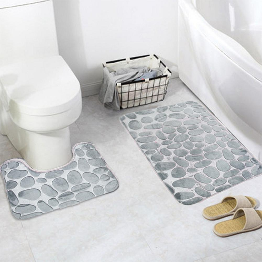 2018 Wholesale Coral Velvet Soft Non Slip Bathroom Shower Mat Toilet ...