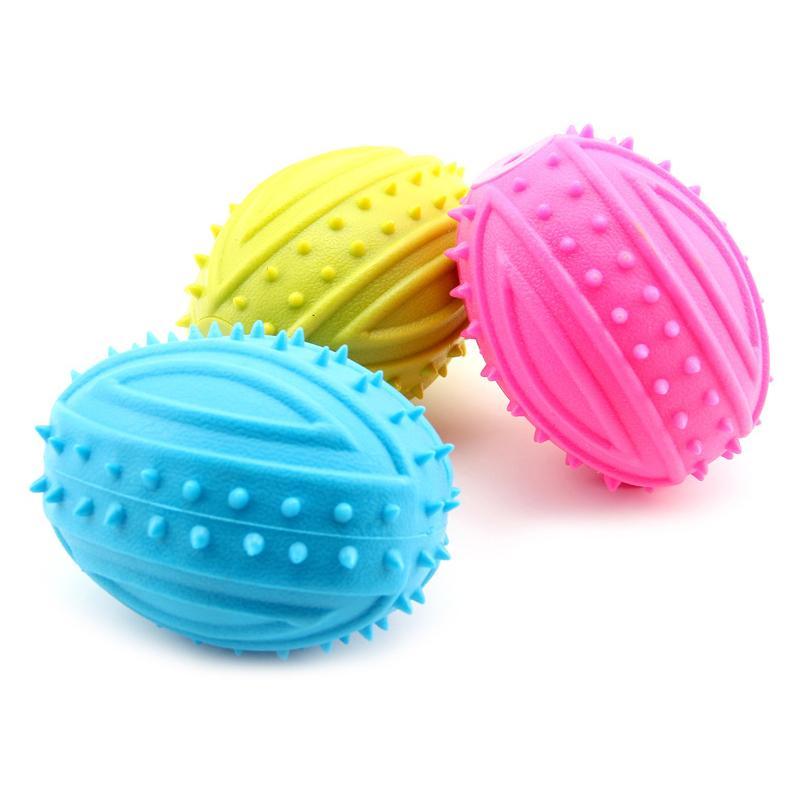 جديد وصول كلب مضغ لعبة squeaker صار الصوت لعب للكلاب الصغيرة الكرة الاليفة جرو المطاط الكلب لعبة منتجات الحيوانات مقاومة لدغة