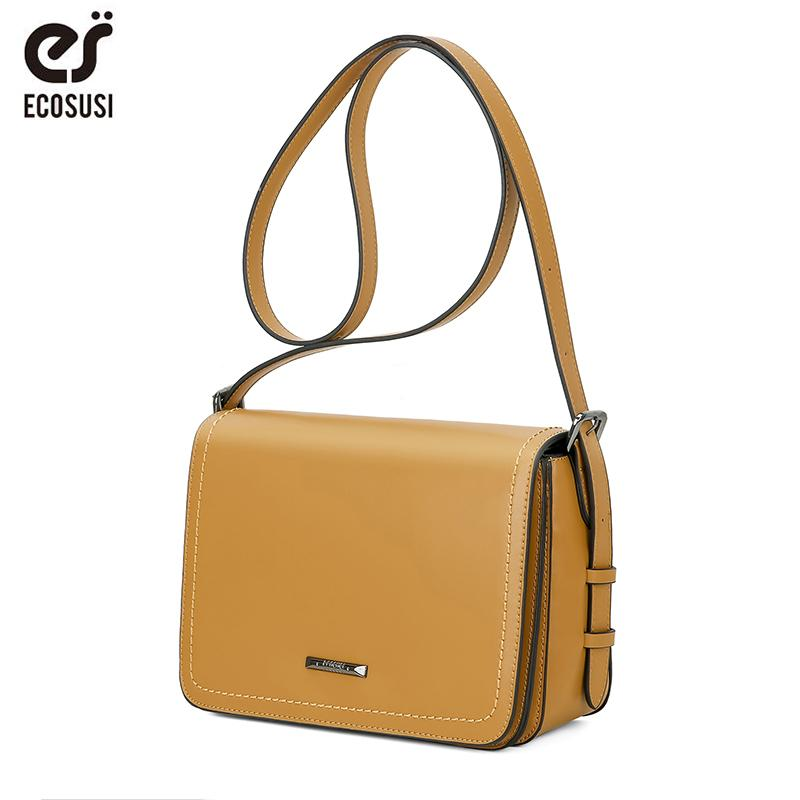 ca3315b9c8 2019 Fashion ECOSUSI Women Messenger Bags PU Leather Women Crossbody Bags  Female Flap Crossbody Bag Discount Designer Handbags Wholesale Purses From  Bag33