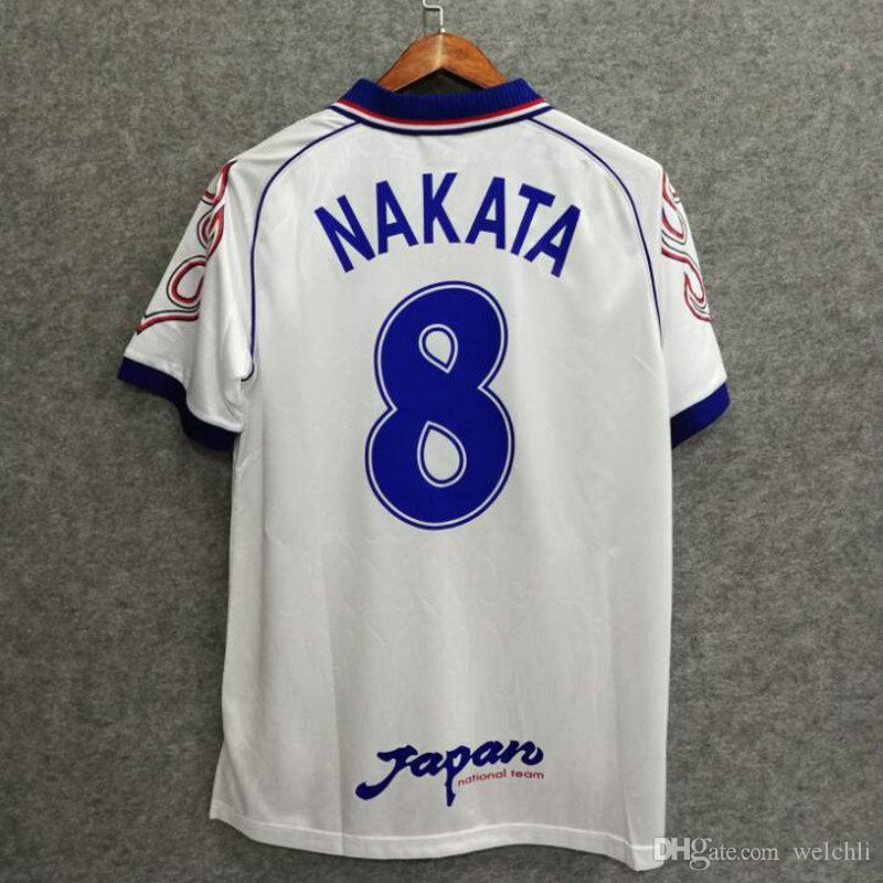 Clásicos Japón 1998 Retro Jersey De Fútbol Nombre Personalizado NAKATA 8  Camisetas De Fútbol Aaa Calidad Hogar Lejos Manga Larga Tamaño Asiático M L  XL XXL ... 2652c1c4a8c4f