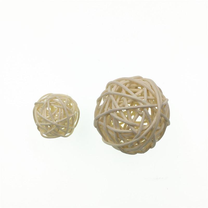 3cm And 5cm rattan ball wedding birthday party decor christmas home ornament decoration supplies