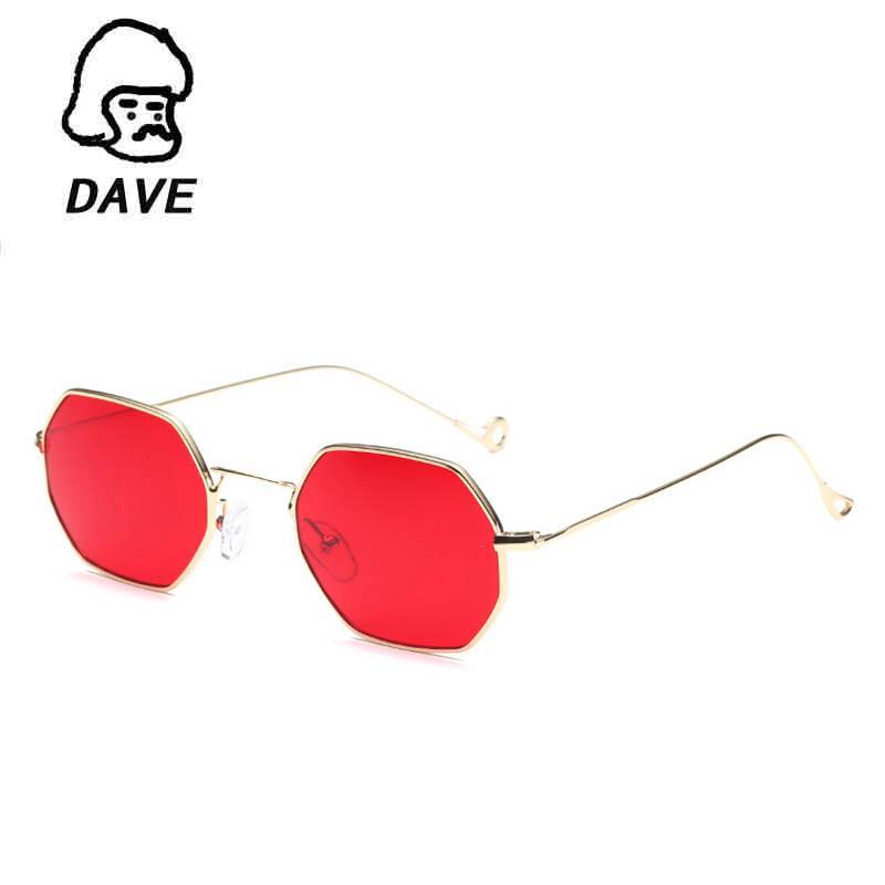 31f0f0a1f8 Compre DAVE Gafas De Sol Retro Mujer Marco Pequeño Polígono Lente Clara  Gafas De Sol Marca Diseñador Hombres Vintage Gafas De Sol Hexágono Marco De  Metal A ...