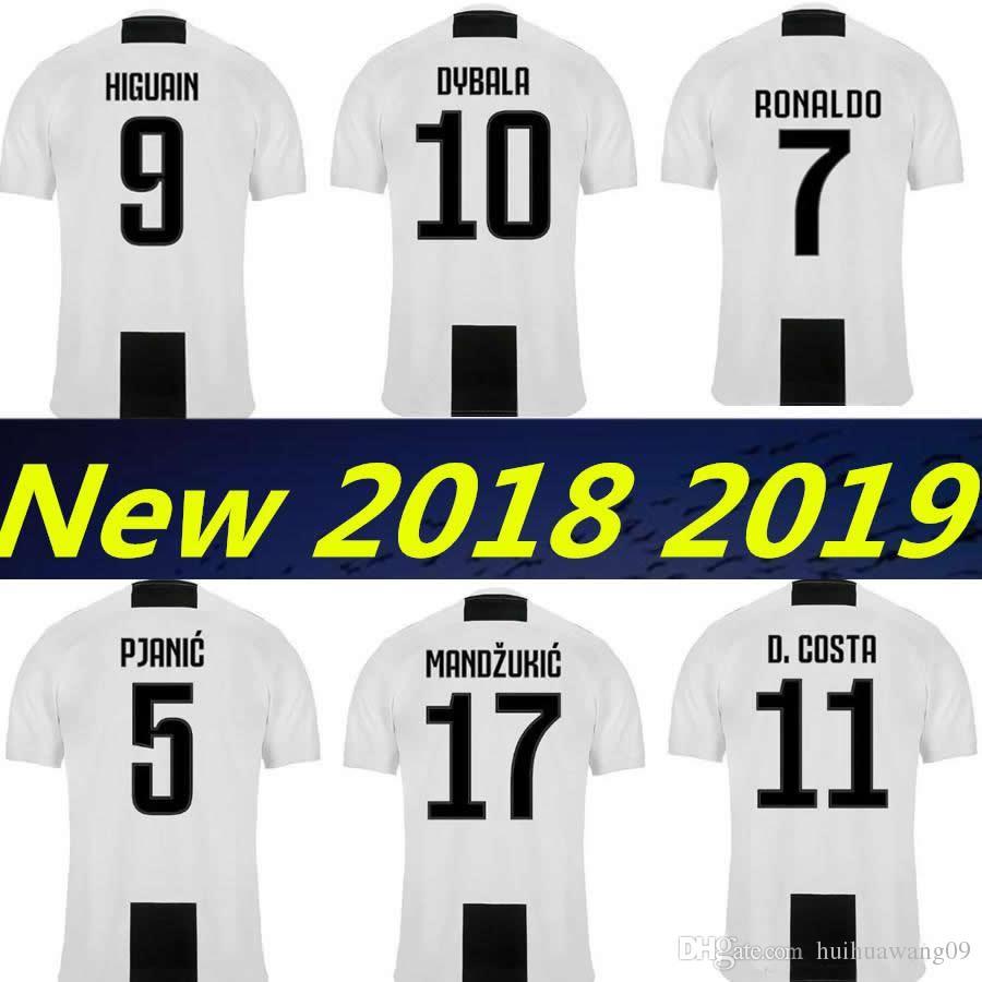 cc3e8cf48f4 7 RONALDO 2018 2019 DYBALA Chiellini JUVENTUS Soccer Jersey HIGUAIN ...