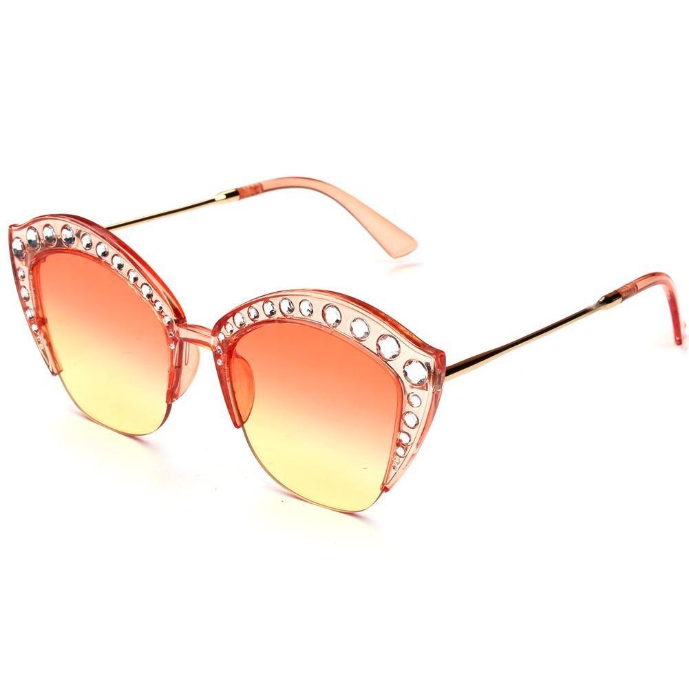 6efe4f5e02 Compre Gafas De Sol De Moda Cat Eye Frame Taladro Completo Gafas De Sol  Diamante Gafas De Sol Trend Street Time Tiempo Libre Gafas Para Mujer Al  Por Mayor A ...