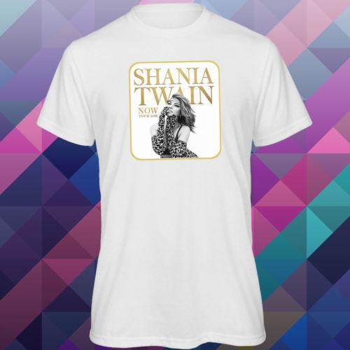 Men's Shania Twain Now Tour 2018 Singer Music White Loose fit T-shirt