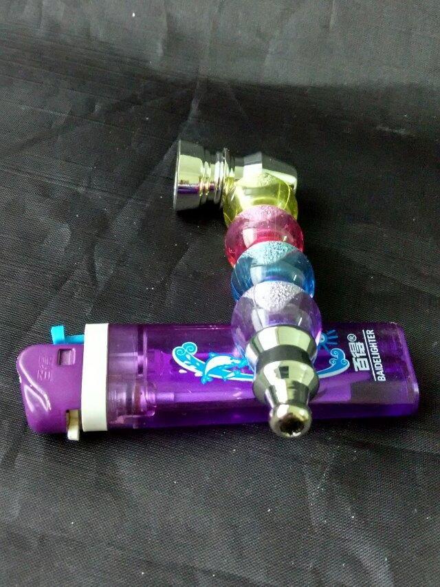 Il metallo ancora più bottiglie d'acqua, accessori di bong di vetro all'ingrosso, fumo di pipa di vetro, spedizione gratuita